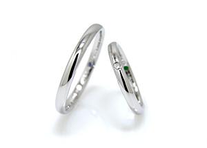 細くて短い指に似合う指輪1
