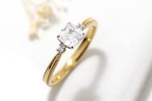 ファンシーカットダイヤモンドリング