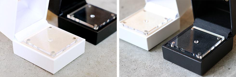 白と黒のTRESOR(トレゾア)オリジナルケースに入ったダイヤモンド